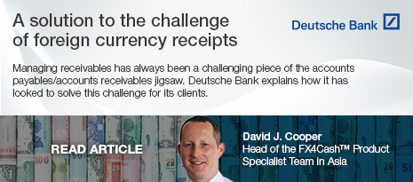 Deutsche Bank Smarter Treasury – A solution to the challenge of foreign currency receipts