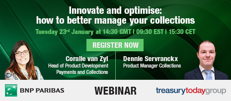 Treasury Today webinar with BNP Paribas – Innovate and optimise: how to better manage your collections – register now
