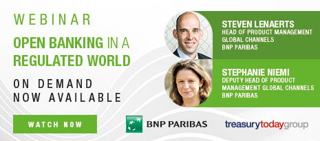 Treasury Today webinar with BNP Paribas – Open banking in a regulated world – On demand now available – Watch now