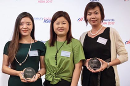 Photo of Vanessa Goh, DBS, Wendy Sun and Angeline Ting, Grab Singapore and Lim Shiang Wen, DBS.