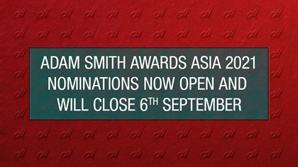 Adam Smith Awards Asia 2021 nominations now open and will close 6th September