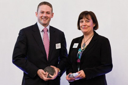 Mark Tweedie, Citi and Kathy Yates from AT&T accepting on behalf of Elaine Lou