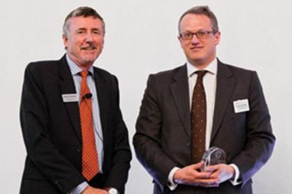 Richard Parkinson and Jonathon Traer-Clark accepting on behalf of Cristina Tate