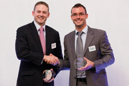 Mark Tweedie, Citi and Jose Luis Marti from Microsoft accepting on behalf of Nancy Wells
