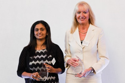 Shobha Nair from Honeywell accepting on behalf of Pui Yee Lee and Barbara Harrison, Citi