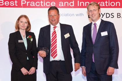 Photo of Eleanor Hill, Treasury Today, Klaas Springer and Sander van Tol, Zanders