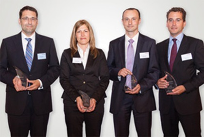 Photo of Jörg Bermüller, Tanja Verseck, J.P. Morgan, Jörg Konrath, BNP Paribas and Thomas Eberle, Deutsche Bank