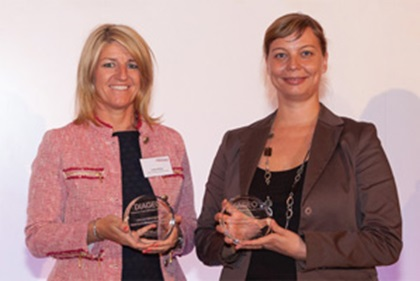 Photo of Lesley White, Bank of America Merrill Lynch and Szilvia Zacsovics