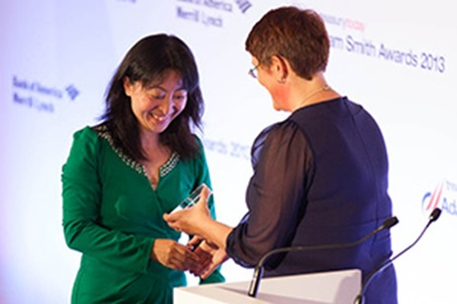 Adam Smith Awards 2013 –  Linda Zhang, Honeywell