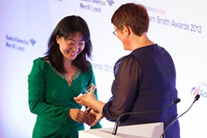 Adam Smith Awards 2013 –  Linda Zhang, Honeywell