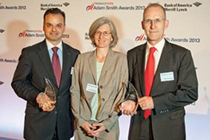 Fabio Sarao, Deutsche Bank, Josiane Farronato and Martin Schlageter from Roche