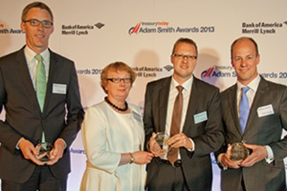 Rainer Wagner, Deutsche Bank, Dympna Donnelly and Steffen Diel from SAP, Matthias Reschke, J.P.Morgan