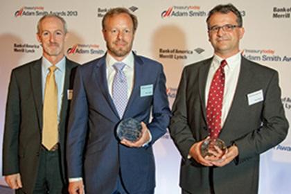 Ken Bogert and Marco Brähler from Roche, Klaus Mueller, SAP