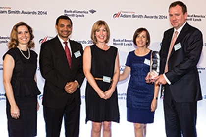 Jennifer Boussuge, Bank of America Merrill Lynch with Amit Singh, Margaret McDonnell, Jennifer Cleary and Barry McKernan from Pfizer