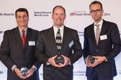 Gary Minoletti of J.P. Morgan, John Coon of Dow Corning and Pascal ter Haak of Bank Mendes Gans