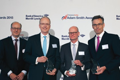 Christof Mürb, Deutsche Bank, Rando Bruns and Tim Nielsen, Merck and Marc Voelcker, J.P. Morgan