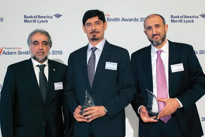 Mohd Abdulla Jaber Al Ali, Abu Dhabi Commercial Bank, Salah Mohamed Al Weswasi, Abu Dhabi Department of Finance and Shadi Abu Hijjleh, Abu Dhabi Commercial Bank