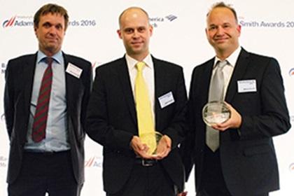Henrik Jørgensen, Nordea, Stefan Windisch and Marcus Facciola, F. Hoffmann-La Roche