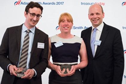 Philippe De Coninck, Euroclear, Katie Walker and Bert Heirbaut, InterContinental Hotels Group