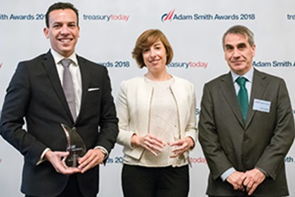 Photo of Fabio Monico, Bank of America Merrill Lynch, Vanessa Edesa Verde and Javier Urquidi, Iberdrola SA