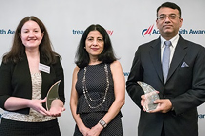 Photo of Natasha Condon, Citi, Anita Mehra and Rahul Daswani, Microsoft