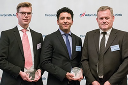 Photo of Marcus Kiene, Serrala, Ridoune El Azizi and Arkadius Stroda, thyssenkrupp AG