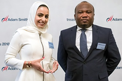 Photo of Asma Al Suwaidi and Kofi Aduku, Mubadala Investment Company
