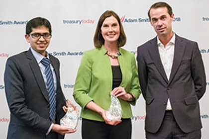 Photo of Ritesh Jain, Citi, Alise Long and Alexander van den Heuvel, Royal DSM