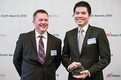 Photo of Tom Czerwinski and Edward Lu, Microsoft