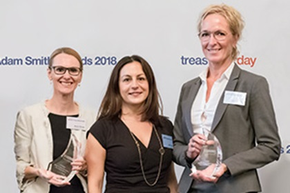 Photo of Marion Reuter, Standard Chartered, Lydia Grigo and Anneli Walltott, Sandvik