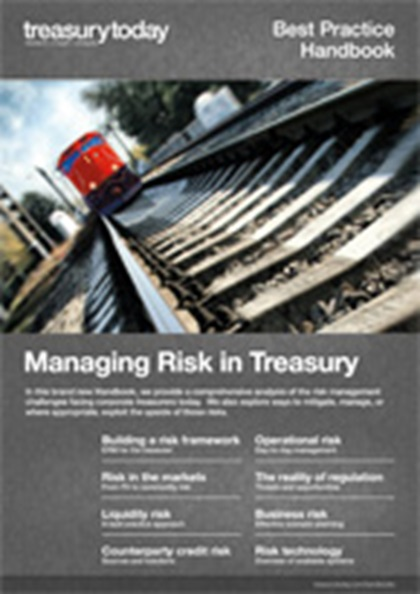 Cover of treasurytoday Handbook: Managing Risk in Treasury