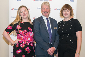 Meg Coates, John Nicholas and Sophie Jackson from Treasury Today Group