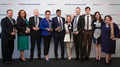 Adam Smith Awards 2019 Top Treasury Team – Honeywell