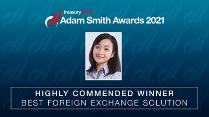 SASA 2021 Best Foreign Exchange Solution Highly Commended: Medtronic