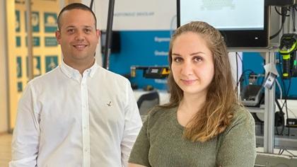 Photo of Burc Ulusu, Credit Control & Contract Supervisor and Dilan Narin, Business Controller.