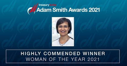 Woman of the Year 2021 Highly Commended: Nandini Mongia, SVP & Treasurer