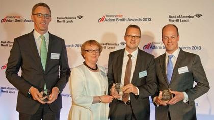 Rainer Wagner, Deutsche Bank, Dympna Donnelly and Steffen Diel from SAP, Matthias Reschke, J.P.Morgan