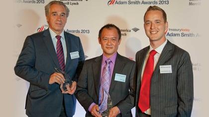 Pierre de Montessus, Bank of America Merrill Lynch, James Koh and James Westerby-Jones from Vertu