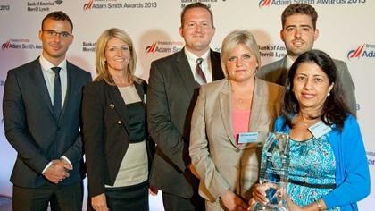 Adam Smith Awards 2013 Top Treasury Team winners