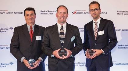 Gary Minoletti of J.P. Morgan, John Coon of Dow Corning and Pascal ter Haak of Bank Mendes Gans
