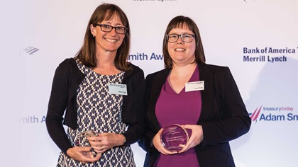 Helen Kyle of SAP collecting on behalf of Steffen Diel and Lucy Devlin of Citi