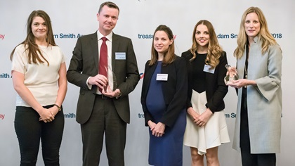 Lucinda Hamilton, Sean Privilege, Zoe Ealand and Katherine Sefton, John Lewis Partnership and Camilla McKane, J.P. Morgan Asset Management