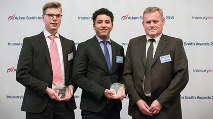 Marcus Kiene, Serrala, Ridoune El Azizi and Arkadius Stroda, thyssenkrupp AG