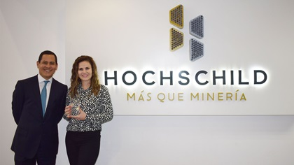 Photo of Federico Galvez, Citi and Rossana Novoa, Hochschild Mining