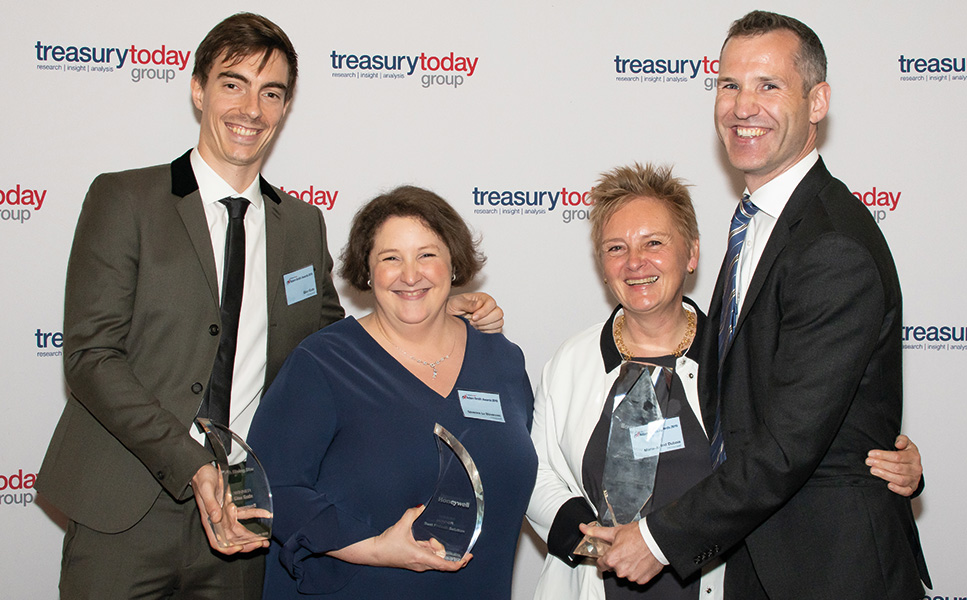 Adam Smith Awards 2019 Top Treasury Team in the photo booth