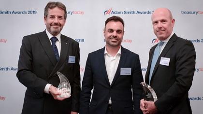Photo of Stephen Darnley and Javier Orejas, IATA and John Murray, Citi.