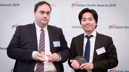 Photo of John Halpin, Doosan Bobcat Inc. and Atsushi Suzuki, J.P. Morgan.