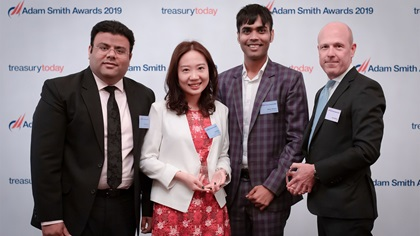 Photo of Varun Wadha, Tian Song and Moda Abhishek, Baker Hughes and John Murray, Citi.