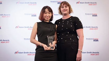 Samantha Ng and Sophie Jackson standing on stage