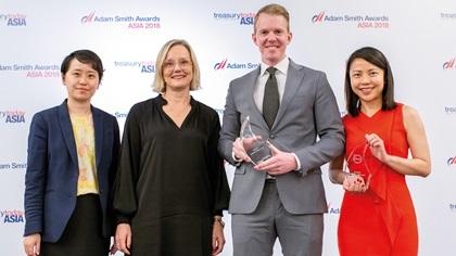 Chen Yun, Anna Löfstedt and Johan Larsson, Volvo Car Group and May May Pang, J.P. Morgan